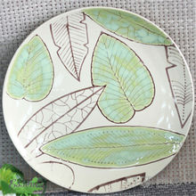 CustomHand painted colourful porcelain wall plates