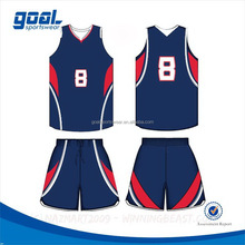 Dye sublimation colorful polyester basketball uniform clothing