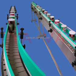 Bottles and Cans Filling Capping Conveyor Transport /Slat Conveyor System Production Line
