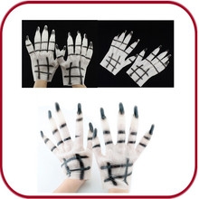 Scary halloween wolf gloves with fingernail and fur for fun PGAC-0753