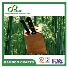 [Bamboo King] FDA passed Bamboo kitchen knife & fork holder 5 insert