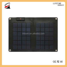 Thin film 10 Watts flexible solar charger, flexible solar panel, solar pack for mobile phone