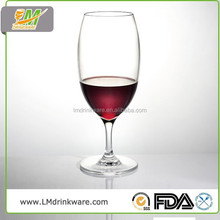 2015 Hot selling custom plastic red wine glass, plastic drinking glass