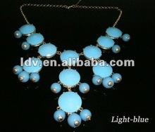 2012 blue bubble bid necklace