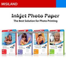 Cast Paper High Glossy Inkjet Coated Foto (de 115gsm a 250gsm) (A4 y formato ancho rollo de <span class=keywords><strong>película</strong></span> de tamaño / lienzo)