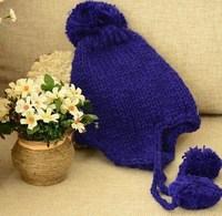 chuncky earflap hat knit beanie hats