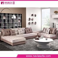 2015 unique furniture design modern u shaped Cloth living room cheap sectional sofa