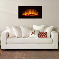 artificial master flame electric fireplace with led flame