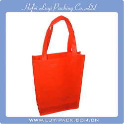 Customized wholesale red color shopping non woven bag