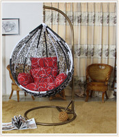 beach swing single seat chair rattan teardrop swing chair