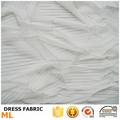 Decoración de la boda blanca plisada de tela de malla vestido de moda para el vestido de boda