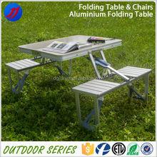 Super convenient hinged folding aluminum table