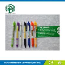 Custom Logo Pull Out Banner Pen, Promotional Novelty Flag Pen, Custom Logo Plastic Banner Pen