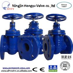 Hot sale gate valve: OS&Y flange connection cast iron metal sealed stem gate valve pn16 solenoid valve actuator 24v