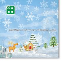 lusso wholesale fiocco di neve tovaglioli di carta stampata