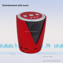 comfortable music sound cup shape 2014 bluetooth speaker combine FM TF keypad