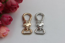 fashion flower design Lobster Clasp promotional metal keychain