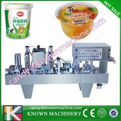 Automatic plastic yogurt cup sealer