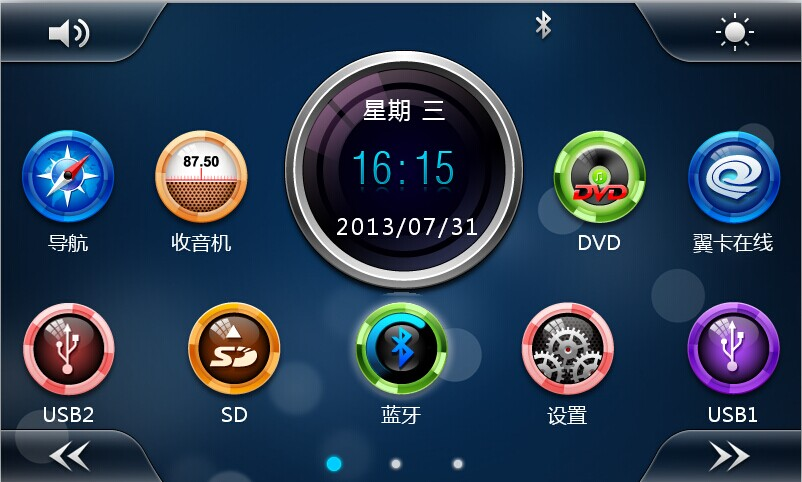 Touch screen Car GPS DVD Player,2 Din Car DVD Player with PIP/11 languages /USB/SD/Buletooth/AV-in/AUX/ back view/Virtual 9 disc