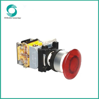 LA115-B2 series, normally open or normally closed CE plastic 22mm or 25mm momentary led push button switch