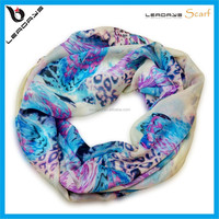 best selling printing leopard feather infinity scarf