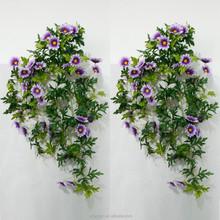 high quality silk stocking flower purple daisy fake fabrice flower hanging bush for wall decoration