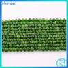 Wholesale Handmade Natural Round Smooth Green Jade Beads