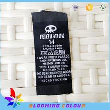 custom cheap high density ployester woven care labels for leather bags