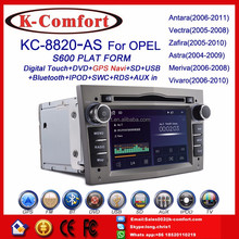 K-Comfort factory supply android opel astra car dvd gps navigation with GPS + SWC + Radio + RDS BT+ SD + USB CD/DVD IPOD Aux-in