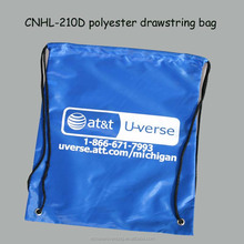 promotion 210d polyester drawstring bag