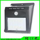 sensor de movimento solar diodo emissor de luz strip com 6 pcs levou