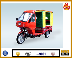 Closed with cabin new model CNG gasoline auto taxi passenger tricycle three wheel bajaj