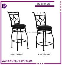 New design modern metal swivel & fabric bar stool