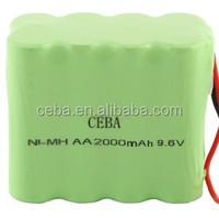 nimh rechargeable battery pack 4.8v 2.4V/ 3.6V/ 4.8V/ 6.0V/ 7.2V/ 8.4V/ 12V/14.4V