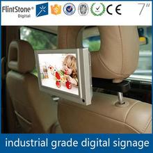 Flintstone 7 inch taxi lcd advertising screen car multimedia headrest player with sd usb port