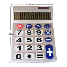 8 Digits Big Button Mini Desktop Solar Calculator