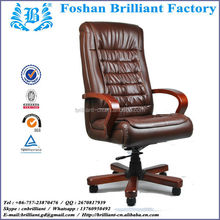 Popular Design High Back Wood Armrest Swivel and Reclining Leather Office Chair BF-8916