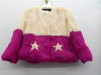 Whole Rabbit fur skin coat / Graceful rabbit fur coats / Kids winter coats