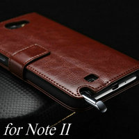 Promotional mobile phone accessory product PU leather multiple function radiation protection phone case for samsung note 2