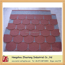 Discount colorful Fish Scale Roof Tile For Bitumen Roof Sheet