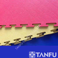 TANFU 7mm Thickness Blue Color Interlocking Exhibition Vinyl Floor Tiles for Trade Show
