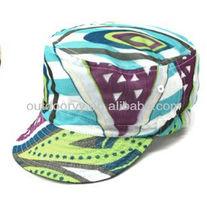 2013 verde pintura abstracta gorra de béisbol sombreros de copa plana barato venta al por mayor