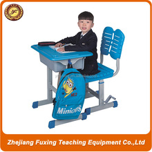 steel frame classroom study desk and chair set