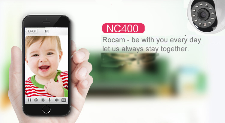 Rocam 1.0MP P2P Night Vision Two Way Audio Plug and Play IP Camera Wireless