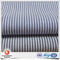 tencel cotton navy blue and white stripe fabric for women clothes