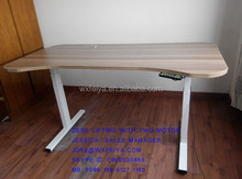 height adjustable table with two motors and three segment