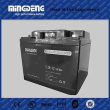 Wide application dry charged 12v lead acid battery