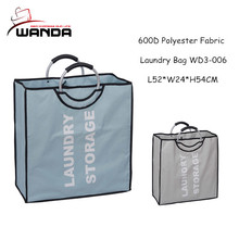 Foldable two handles laundry bag