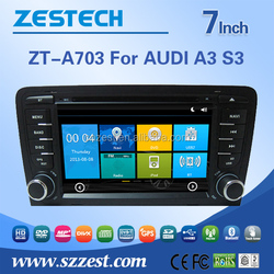 2 din autoradio for Audi A3 S3 car gps naivigation system car dvd player multimedia dashboard placement car dvd player with GPS