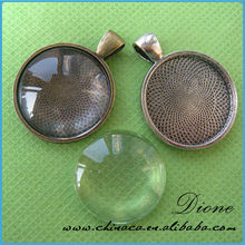 25mm Round Blank Pendant Trays - Blank Bezel Cabochon - Shiny - Antique - Vintage - 5 Colors